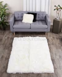 Sheepskin Area Rugs Eggshell White Rectangle Sheepskin Fur Rug 4ft X 6ft Fursource