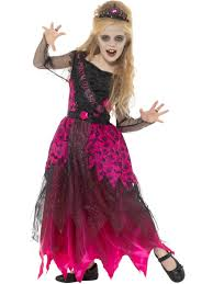 girls zombie gothic prom queen costume