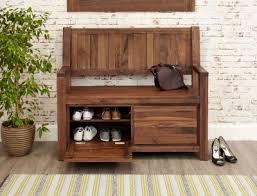 Shoe Bench Uk Buy Baumhaus Mayan Walnut Monks Bench With Shoe Storage Online