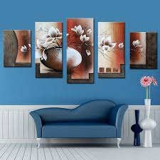 Painting For Dining Room Aliexpress Com Buy 5 Pieces Canvas Painting 100 Handmade