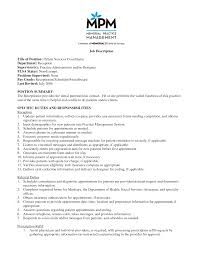Receptionist Job Description For Resume by Patient Care Technician Job Description For Resume Free Resume