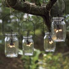 glass jar solar string lights the green