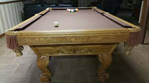 Used Pool Table by Gorgeous Solid Wood Brunswick Billiards Manchester Pool Table Sold