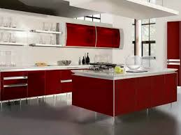 Red And White Kitchen Ideas Tag For Modern Black And Red Kitchen Designs Dark Red Painted