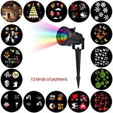 Amazon Uk Outdoor Christmas Decorations by Christmas Landscape Lights Halloween Light Projector 15 Patterns