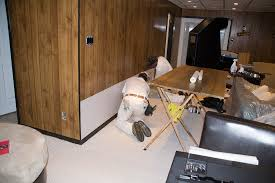 Covering Wood Paneling Using Paintable Wallpaper To Cover Wood Paneling Super Nova Wife