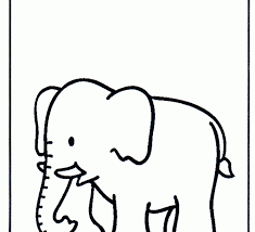 drawings coloring pages elephant creative