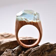 jewelry wooden rings images Image of waterfall ring made out of wood resin and beeswax jpg