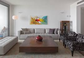 Living Room Furniture Modern by Modern And Cozy Living Room With Light Grey Sofa And Bench Walnut