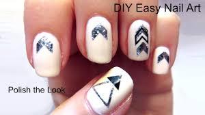 easiest nail art ever metallic flash tattoo nails youtube