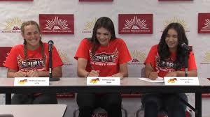 3 lady matadors sign with ottawa university arizona softball for