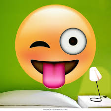 emoji winking tongue face wall decal teen room decor emoji winking tongue face wall decal teen room decor retroplanet com