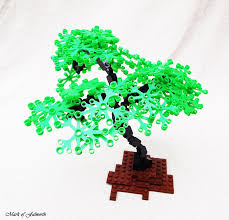 great tree idea for my park pond plan lego tree tutorial from