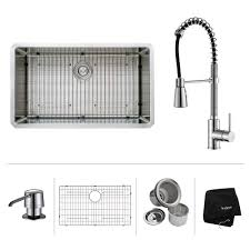 Sink Faucets For Kitchen Stainless Steel Kitchen Sink Combination Kraususa Com