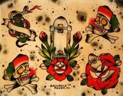 traditioana flasj traditional skull flash image