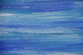 abstract oil painting on canvas blue colored background stock