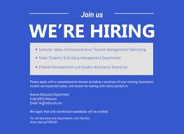 Job Resume Malaysia by Kolej Mdis Malaysia