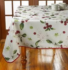 48 Round Tablecloth Amazon Com Violet Linen European Kitchen Cherries Vintage