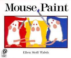 early childhood scribbles mouse paint color mixing