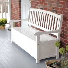 Garden Wooden Bench Diy by Wooden Storage Bench Benches Storage Bench With Cushion White