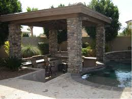 Arizona Backyard Landscaping by Backyard Oasis Shady Stone Ramadas In Glendale Arizona Desert