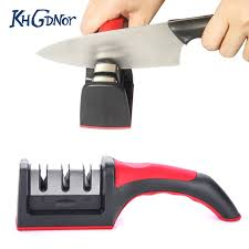 Where To Get Kitchen Knives Sharpened Khgdnor Three Stages Knife Sharpener Professional Carbide