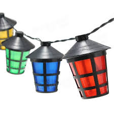 solar powered lantern lights 8m 40 led solar powered hanging lantern light long string l solar