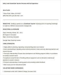 Teacher Sample Resume by Teacher Resume Free Sample Carriedfred Gq