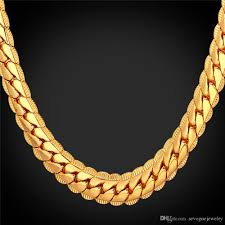 gold plated necklace images 18k real gold plated necklace with 18k stamp men jewelry 18in 32in jpg