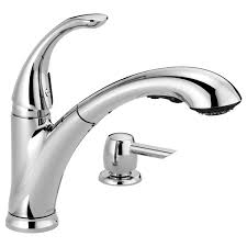 16736 sd dst single handle pull out kitchen faucet with soap