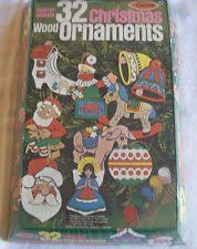 1973 wood ornament craft kit 3556 paint by number nip