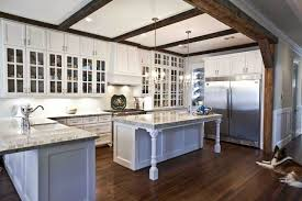 like any good farmhouse kitchen this one features a mix of open
