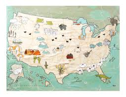 Us Map Chicago by Usa Map Print Travel Art Map Artwork Modern Kid Art