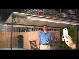 Free Standing Awning Sunsetter Oasis Freestanding Awning Youtube