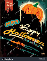 vintage halloween illustration vintage halloween poster design stock vector 211251982 shutterstock