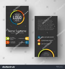 modern simple dark vertical business card stock vector 185608904