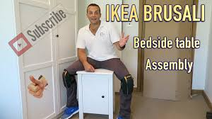 Ikea Bed Table by Ikea Brusali Bedside Table Assembly Youtube