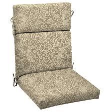 Lowes Patio Chair Cushions Shop Garden Treasures Neutral Stencil Floral Standard Patio Chair