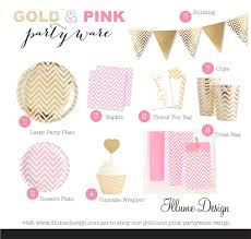 pink and gold party supplies gold party supplies illumepartyware au