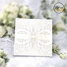 bridal cards kazipa 25 pack set laser cut invitation cards lace