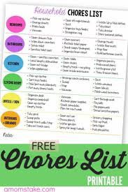 free home best 25 household chores ideas on pinterest cleaning checklist