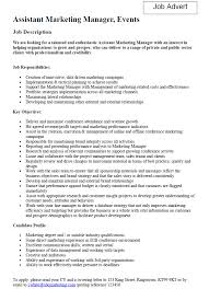 Job Profile In Resume by Excellent Marketing Assistant Job Description For Resume 28 About