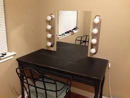 Table Vanity Mirror With Lights Table Astounding Diy Vanity Mirror From Scratch And Old Dresser
