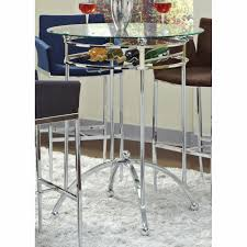 bar height table with glass top