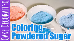 how to color powdered sugar three ways youtube