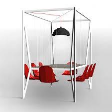 Swinging Desk Balls Innovative Table Design Makes Dinner A Swinging Time Designtaxi Com