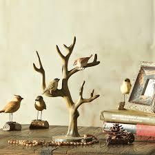 european style antique decorative resin birds stand on tree