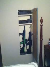 in wall gun cabinet image result for storage in wall between studs gun hidden secret
