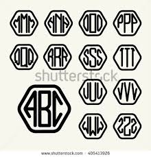 three letter monogram three letter logo stock images royalty free images vectors