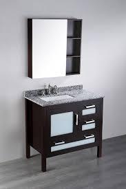 Contemporary Vanity Mirrors Bosconi 37 Inch Contemporary Single Sink Vanity Medicine Cabinet